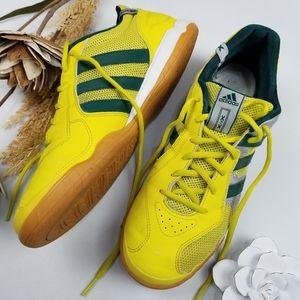 Adidas Sala Yellow Green Indoor Soccer Sneaker 8.5
